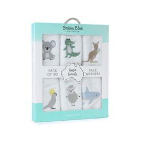 Bubba Blue Aussie Animal Wash Cloth 6 Pack