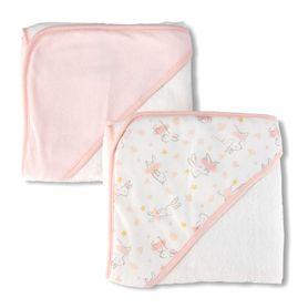 The Little Linen Co Hooded Towel Ballerina Bunny 2 Pack