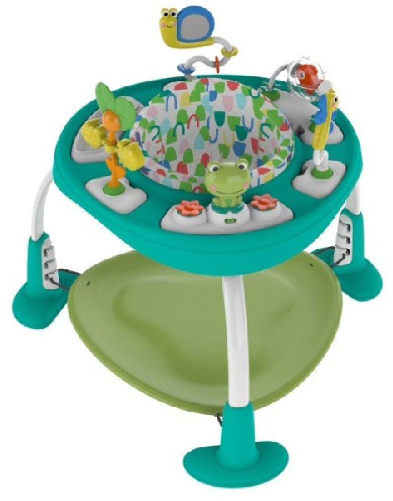 Bright Starts BounceBounceBaby 2-In-1 Activity Jumper & Table Playful Pond