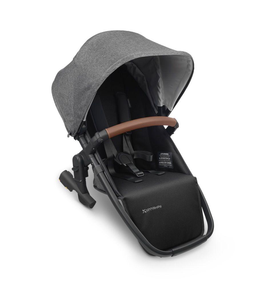 Uppababy Vista V2 Rumble seat - Greyson (Charcoal Mélange/Carbon/Saddle Leather) Greyson