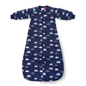 Plum Jersey Sleeping Bag 3.5 Tog Clouds 12-24 Months (Online Only)