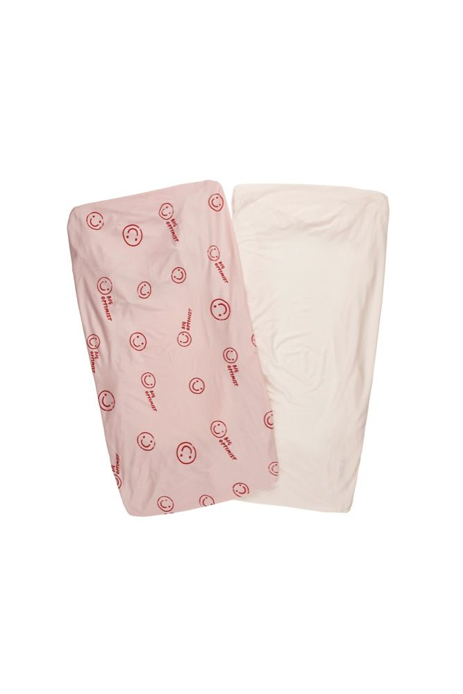 Bonds Jersey Cot Fitted Sheet Big Optimist 2 Pack (Online Only)