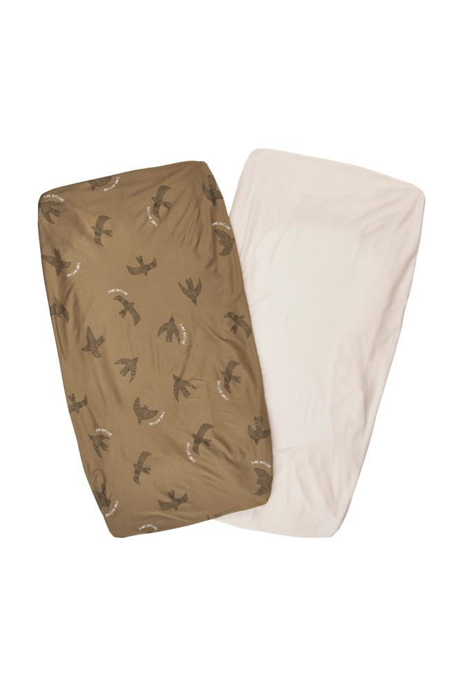 Bonds Jersey Cot Fitted Sheet Time Outside 2 Pack (Online Only)