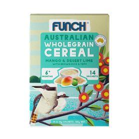 Funch Infant Cereal Sachets - Mango & Desert Lime - 12g - 14 Pack