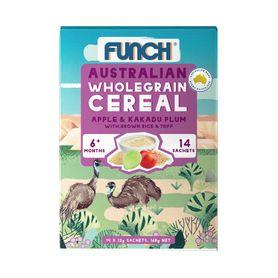 Funch Infant Cereal Sachets - Apple & Kakadu Plum - 12g - 14 Pack