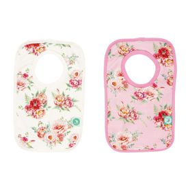 All4Ella Pullover Bib - Floral - 2Pack