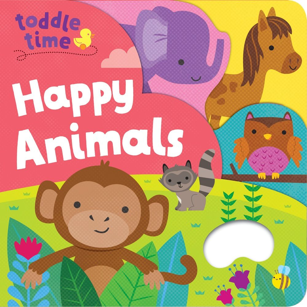 Toddle Time Grab and Hold Board Book - Happy Animals