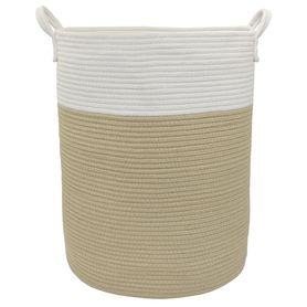 Living Textiles Cotton Rope Hamper Natural (Online Only)