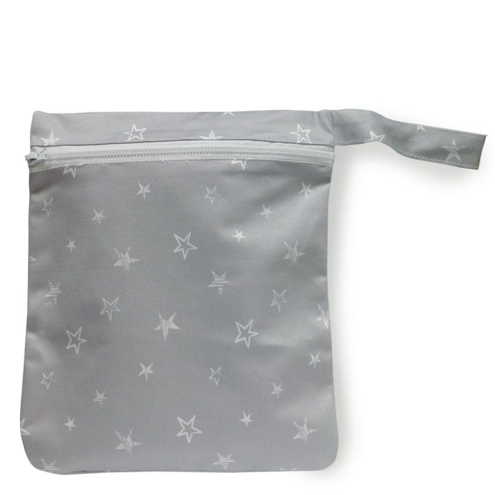 Bilbi Wet Bag - Grey Stars
