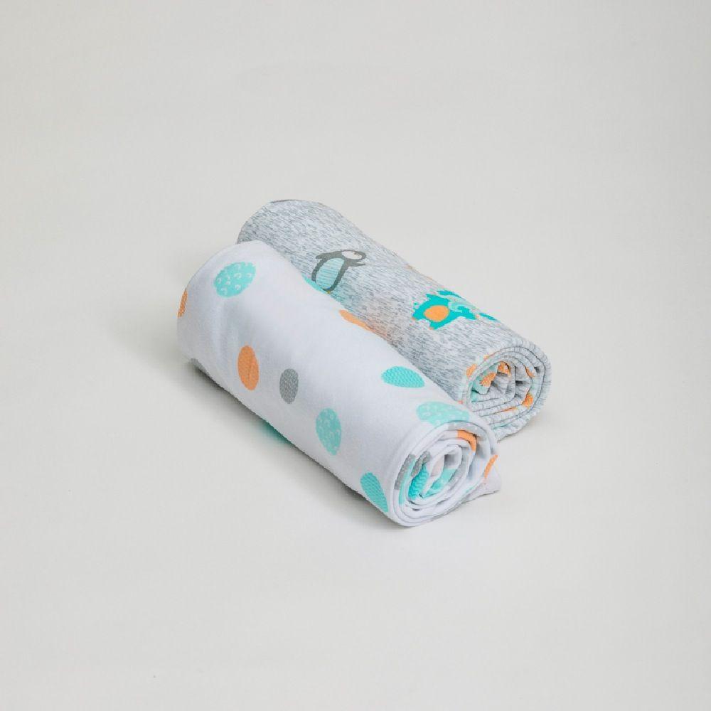 4Baby Jersey Wrap Little Friends 2 Pack