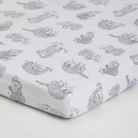 4Baby Jersey Bassinet Fitted Sheet Lazy Sloth 2 Pack