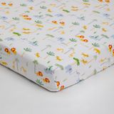 4Baby Jersey Cot Fitted Sheet Safari Scene 2 Pack image 0