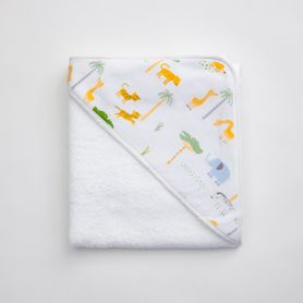 4Baby Hooded Towel Safari Scene