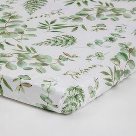 Bilbi Bamboo Bassinet Fitted Sheet Foliage