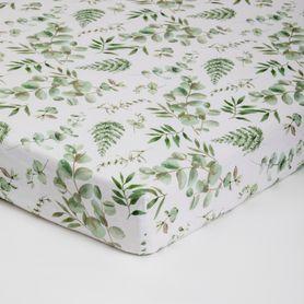 Bilbi Bamboo Cot Fitted Sheet Foliage