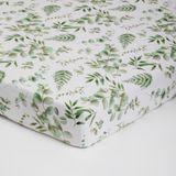 Bilbi Bamboo Cot Fitted Sheet Foliage image 0