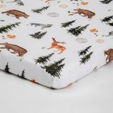 Bilbi Bamboo Bassinet Fitted Sheet Forest image 0