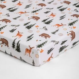 Bilbi Bamboo Cot Fitted Sheet Forest