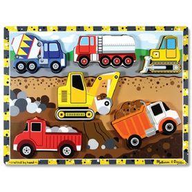 Melissa & Doug Construction Chunk Puzzle