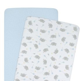 Living Textiles Mason Bedside Sleeper Fitted Sheet 2 Pack