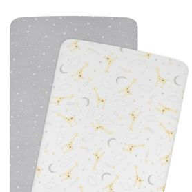 Living Textiles Noah Bedside Sleeper Fitted Sheet 2 Pack