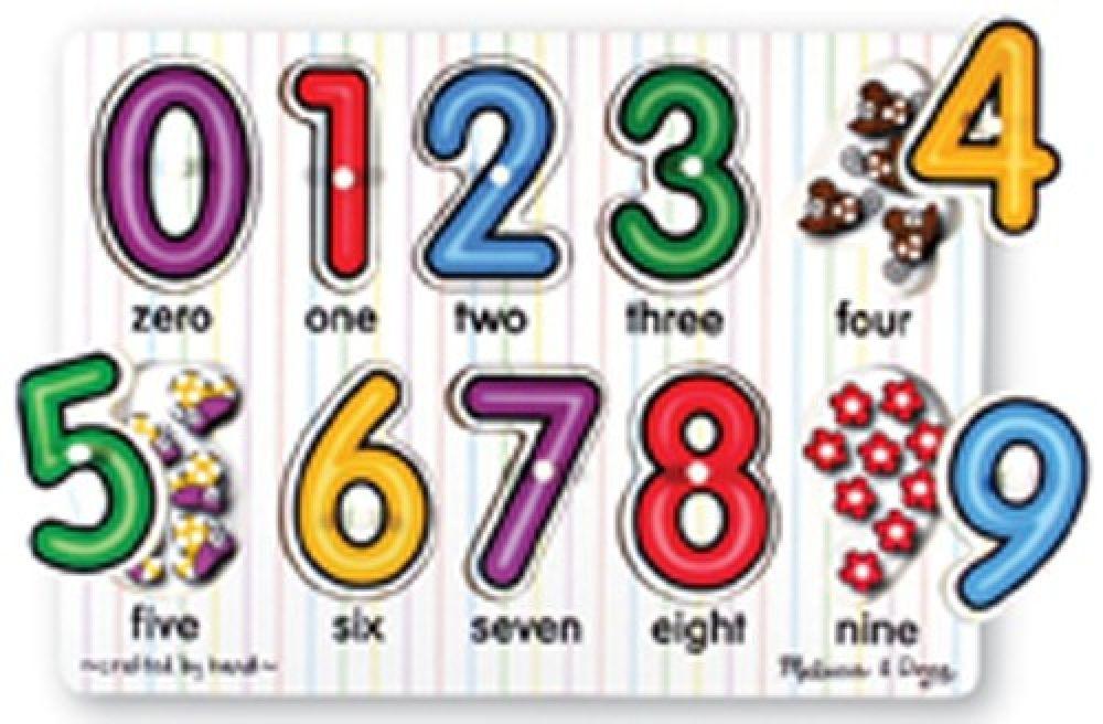 Melissa & Doug Numbers Peg Puzzle image 0