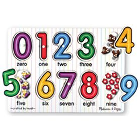 Melissa & Doug Numbers Peg Puzzle