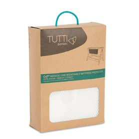 Tutti Bambini Cozee Bedside Sleeper Mattress Protector White (Online Only)