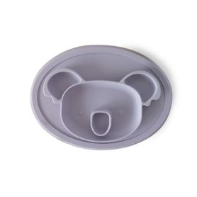 Plum Silicone Placemat Plate - Koala - Smokey Lilac