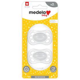 Medela Newborn Transparent Soother - Unisex - 0-2 Months - 2Pack