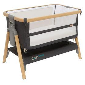 Tutti Bambini Cozee Breeze Bedeside Sleeper & Bassinet Oak/Licquorice