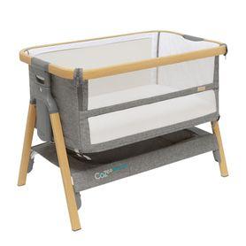 Tutti Bambini Cozee Breeze Plus Bedside Sleeper & Bassinet Oak/Charcoal