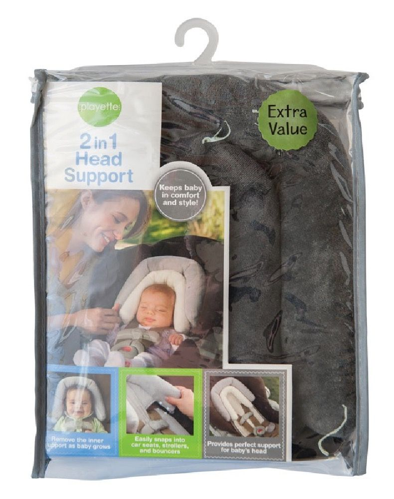 Playette 2 in 1 Head Support Grey image 1
