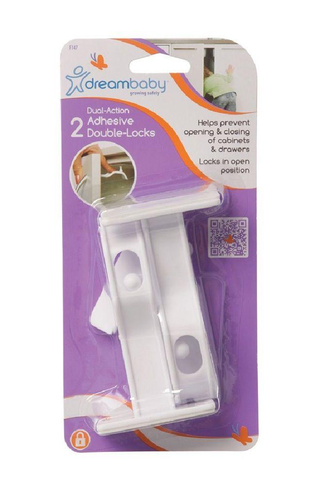 Dreambaby Adhesive Double Locks 2pc