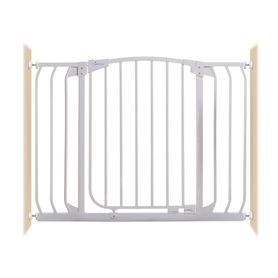 Dreambaby Chelsea Xtra-Wide Auto-Close Gate Pressure Mounted Fits Gaps 97-108 (cm) White