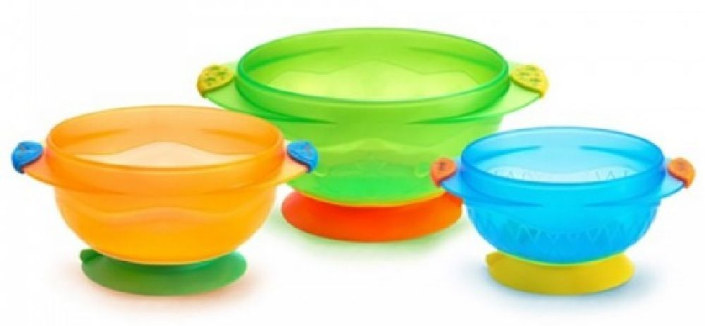 Munchkin Stay Put Suction Bowl 3 Pack