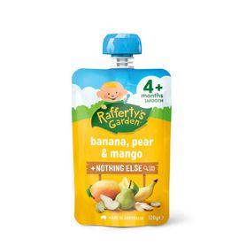 Raffertys Smooth Pouch 120g Banana / Pear / Mango