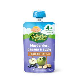 Raffertys Smooth Pouch 120g Blueberry / Banana / Apple