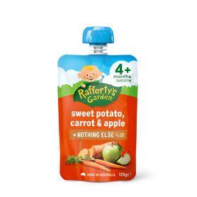 Raffertys Smooth Pouch 120g Potato / Carrot / Apple