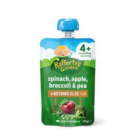 Raffertys Smooth Pouch 120g Spinach / Apple / Broccoli / Pea