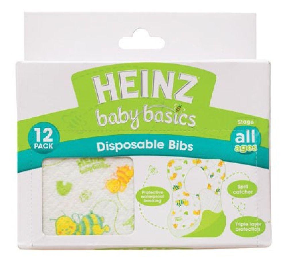 Heinz Baby Basics Disposable Bibs 12 Pack image 0
