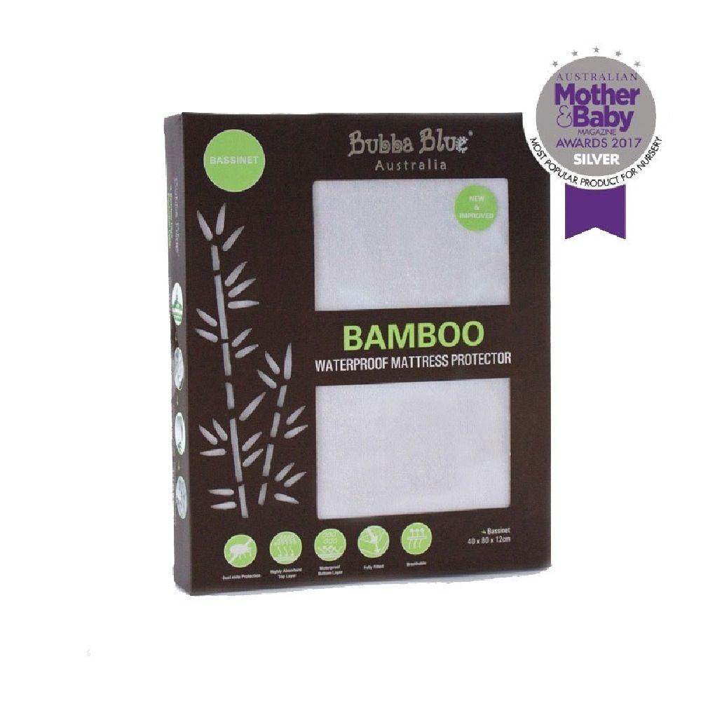 Bubba Blue Bamboo Mattress Protector Bassinet image 0
