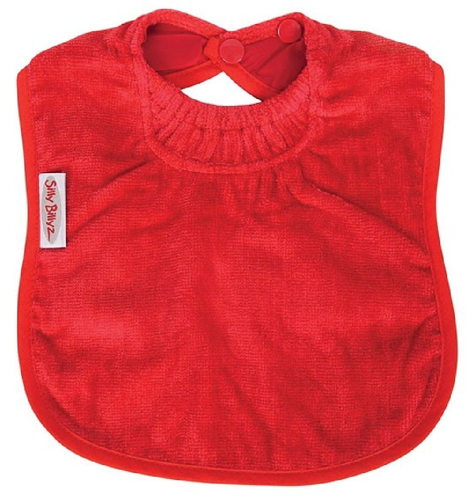 Silly Billyz Towel Plain Bib Red image 0