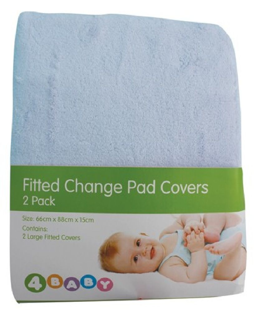 4Baby Change Pad Cover Blue 2 Pack