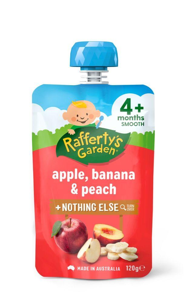 Raffertys Smooth Pouch 120g Apple / Banana / Peach image 0