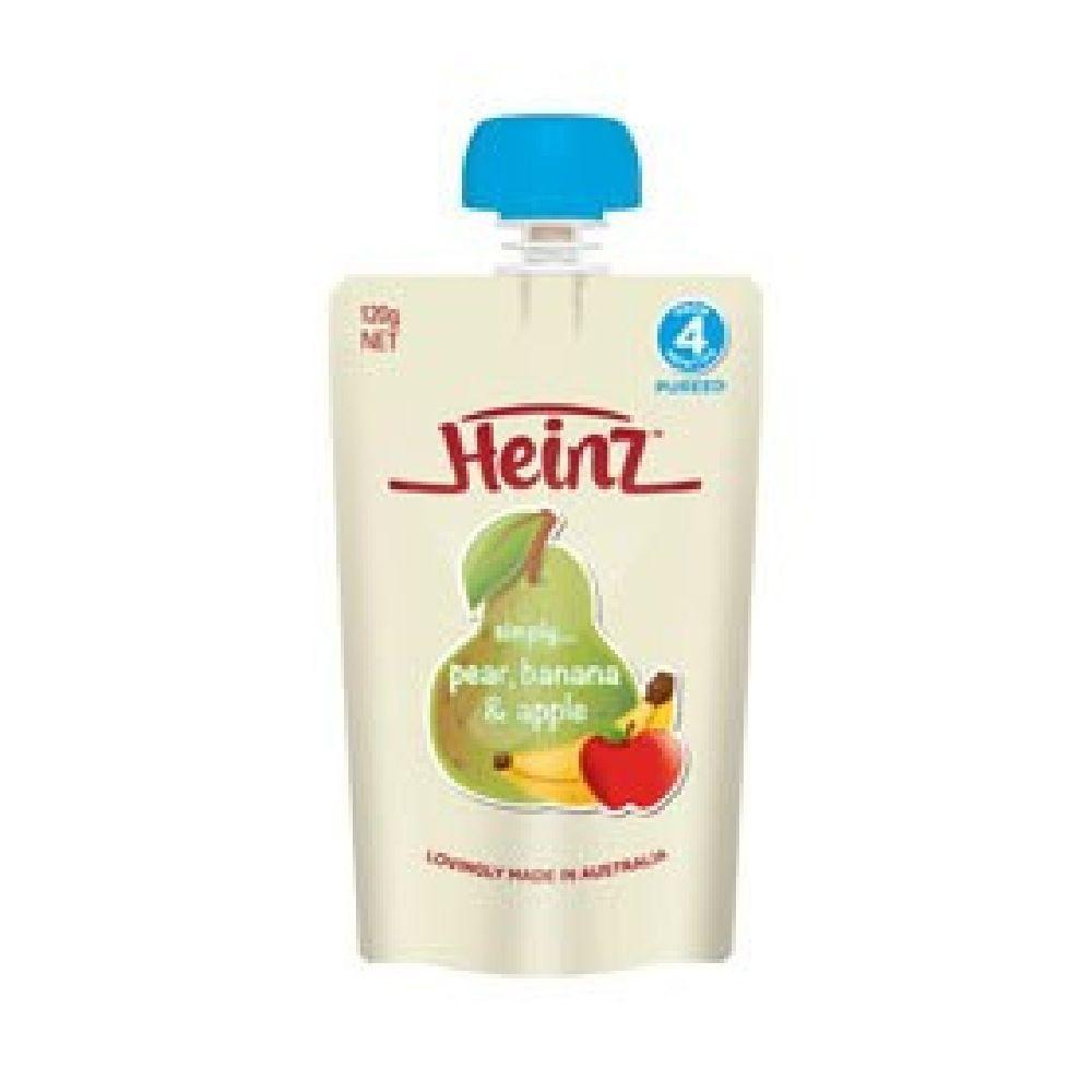 Heinz Simply Pear / Banana / Apple 120g image 0