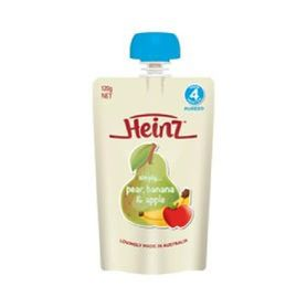 Heinz Simply Pear / Banana / Apple 120g