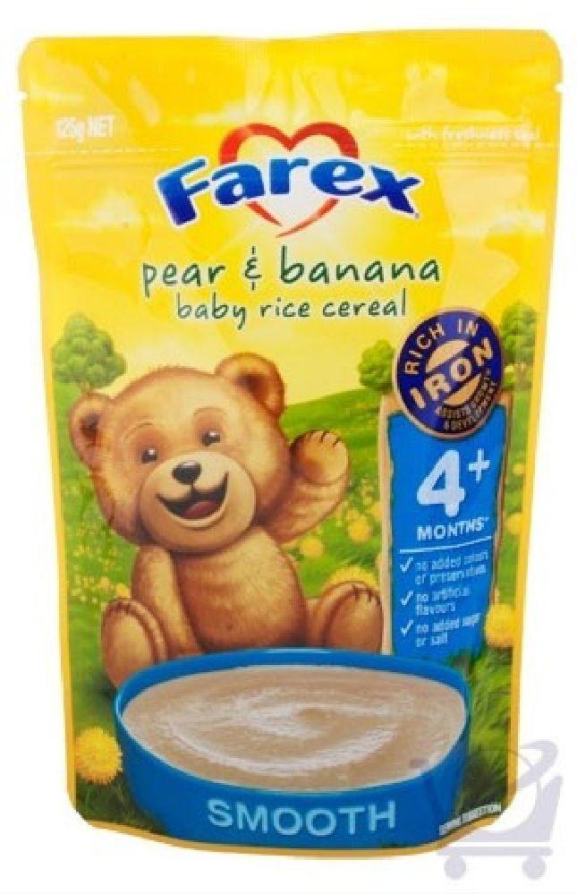 Farex Pear & Banana Baby Rice Cereal 125g 4mth image 0