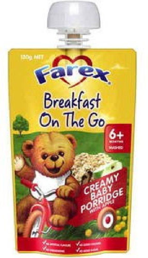 Farex Breakfast On The Go Creamy Apple Porridge image 0