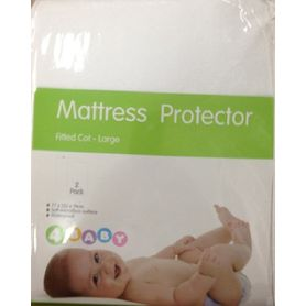 4Baby Mattress Protector Cot Large 2 Pack